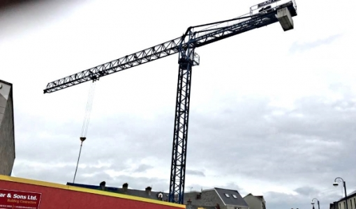 Tower Crane working on Portrush Apartment Buildings