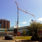 Pedestrian Operated Tower Crane at Altnagelvin Hospital