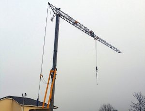 Mantis 35.10 Self Erecting Tower Crane at the Beneavin Care Home Project