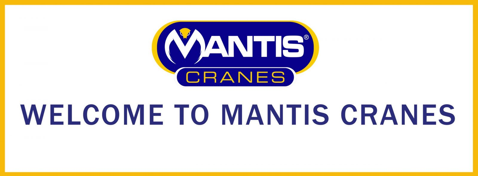 website banner welcome to mantis cranes